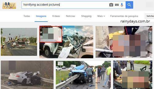 Fotos de acidentes e vídeos horripilantes