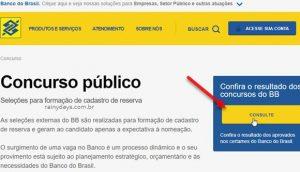 Resultado do concurso do Banco do Brasil
