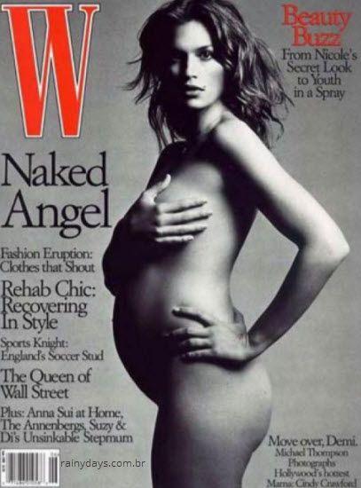 Cindy Crawford grávia nua W Magazine