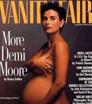 Demi Moore grávida Vanity Fari