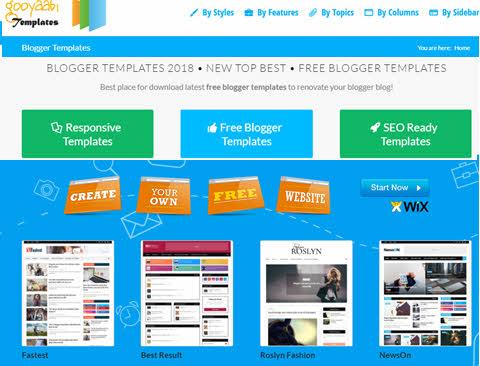 Site para download de templates ou temas para Blogger