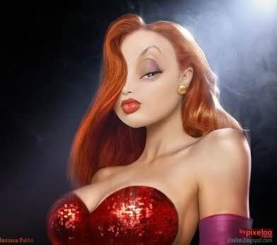 Jessica Rabbit na vida real Roger Rabbit