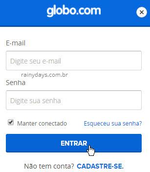 Login na Globo.com GShow