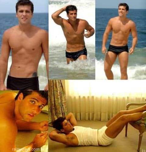 Bruno Gagliasso sexy na praia, cueca