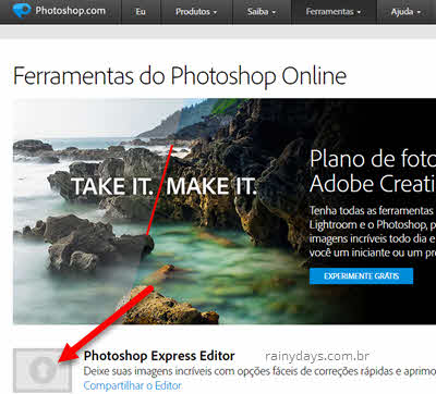 Adobe Photoshop Editor Express grátis