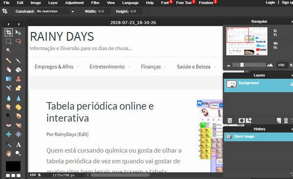 Editar imagem online grátis