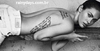 tatuagem megan fox costas