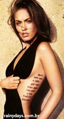 Tatuagens Megan Transformers Fox