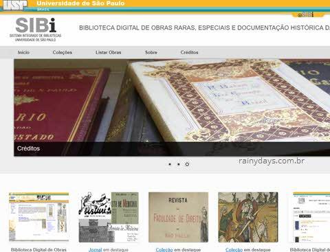 Obras raras digitalizadas USP