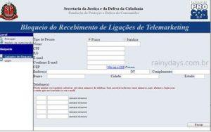Bloquear telefone para ligações de telemarketing São Paulo