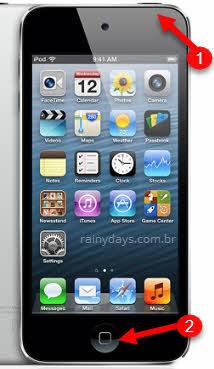 resetar iPod Touch botão repousar/despertar início