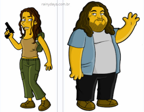 Hurley e Kate de Lost nos Simpsons