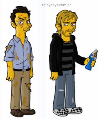 Simpsons do Ben e Charlie de Lost seriado