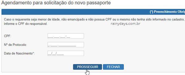 Agendamento solicitação de passaporte Polícia Federal