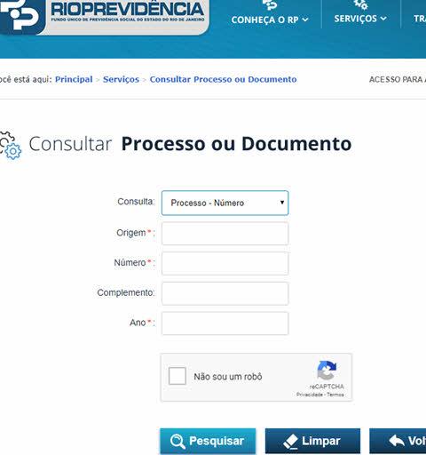Acompanhar processos da Rio Previdência RJ
