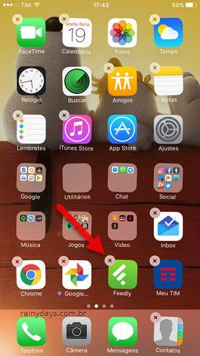 Como apagar aplicativos do iPhone na tela principal