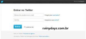 Restaurar conta do Twitter apagada