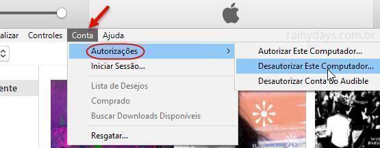 Autorizar e desautorizar computadores na iTunes Store 4