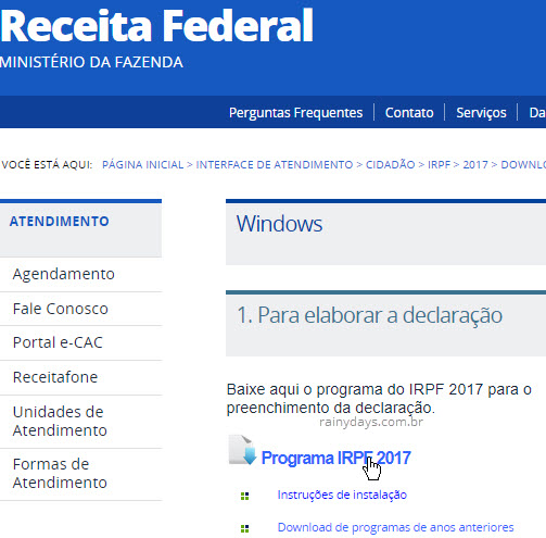 Download IRPF baixar programa Imposto de Renda
