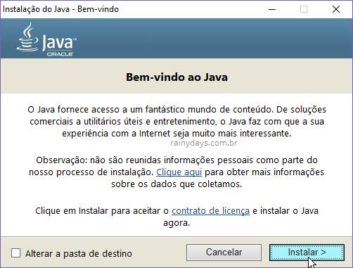 Instalar Java no computador