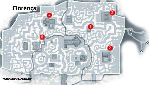 Mapas do game Assassin's Creed II