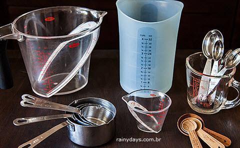 Tabela de Medidas Culinárias - Colher, Gramas, Xícaras