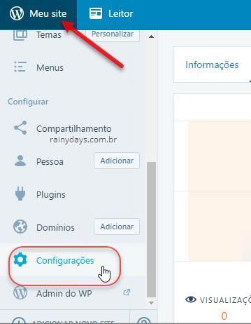configurações Meu Site WOrdPress