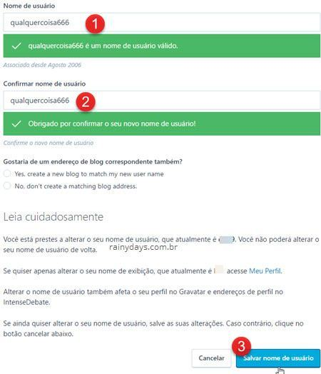 Modificar nome de usuário WordPress
