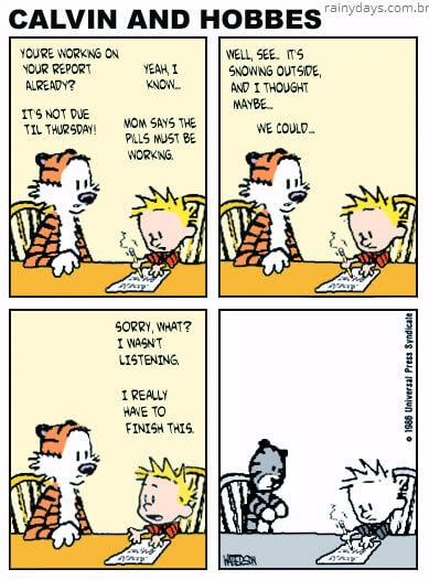 Como seria Calvin & Haroldo se Calvin tomasse ritalina