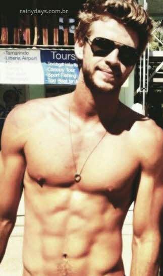 Liam Hemsworth gostoso tanquinho
