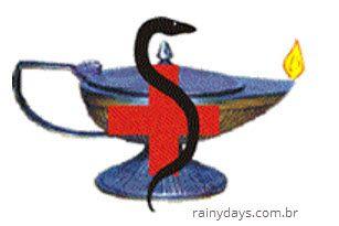 símbolo da enfermagem Símbolos das profissões da área de Ciências Biológicas