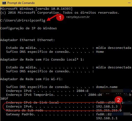 Como descobrir IP do meu computador