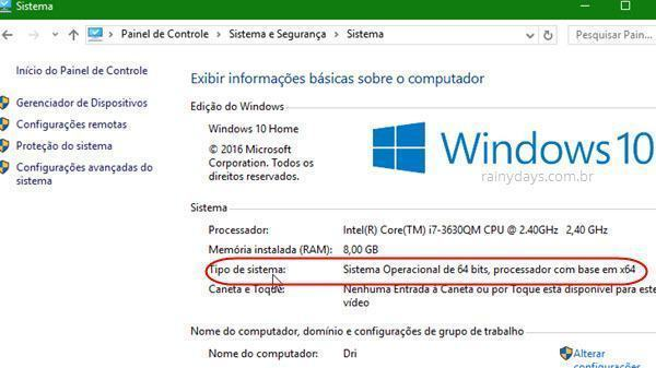 Descobrir se Windows é 32 ou 64 Bits