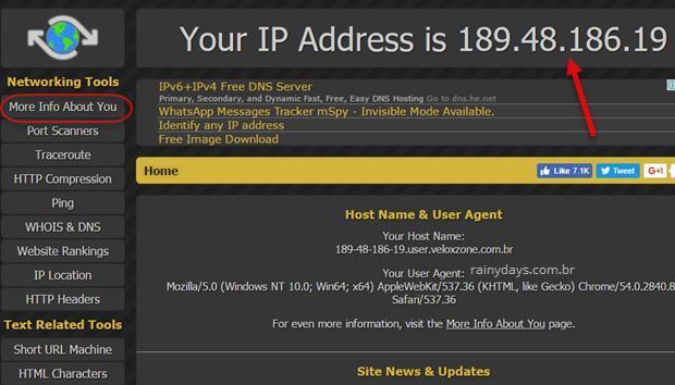 descobrir IP público do meu computador