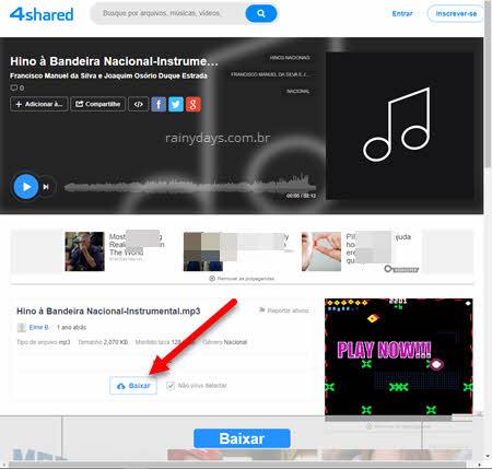 Como fazer download no 4Shared