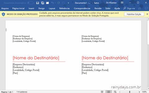 Modelos de etiquetas para Office grátis, etiquetas Word