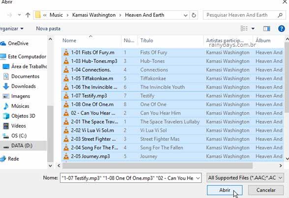 Adicionar mp3 no ImgBurn para criar CD de áudio