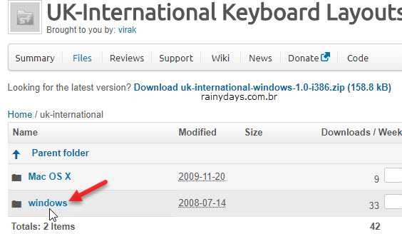 Download Windows teclado UK-international
