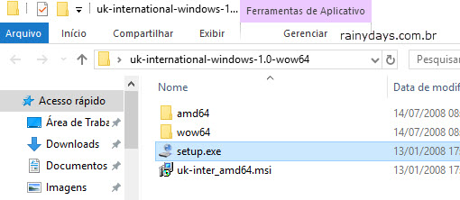 setup.exe Layout UK-international