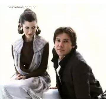 Fotos raras dos bastidores de Star Wars Han Slo Leia