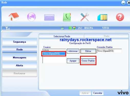 configurar OpenDNS no modem 3G da VIVO 5