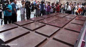 Maior Barra de Chocolate do Mundo (Vídeo)