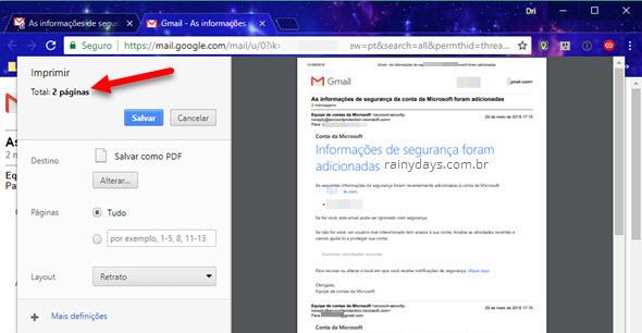Imprimir todos emails de uma conversa do Gmail