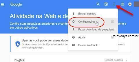 excluir histórico da web Google 3