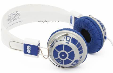 Fones de ouvido do Star Wars, R2-D2, Stormtrooper
