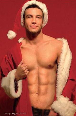 Homens gostosos vestidos de Papai Noel