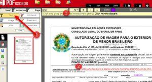 Como editar arquivo PDF online com PDFescape