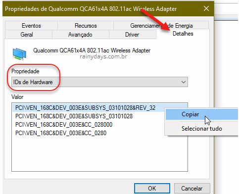 Como encontrar driver para dispositivo desconhecido Windows ID vendedor