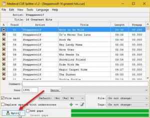 Como dividir arquivo FLAC único em faixas