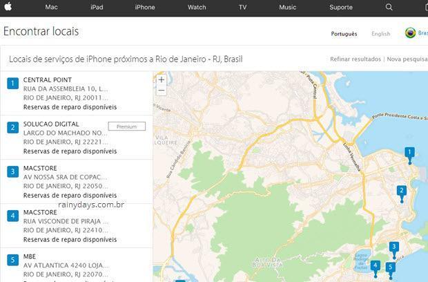 Serviço autorizado da Apple no Brasil